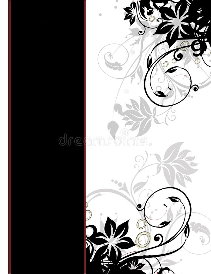 Free Elegant Floral Page Border Template Cover Page Royalty Free Stock Images - 13095509