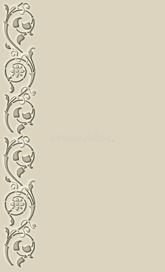 Elegant floral stencil design stock photography