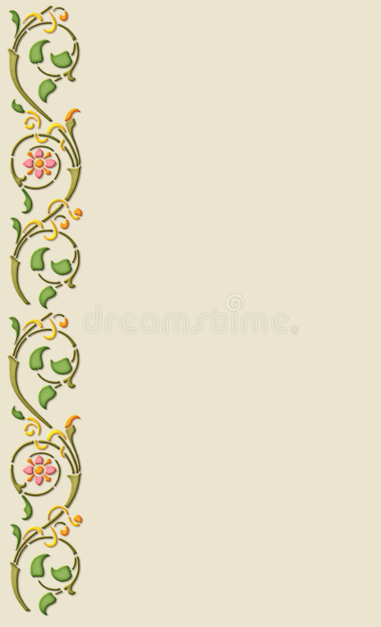 Elegant floral stencil design royalty free stock photography