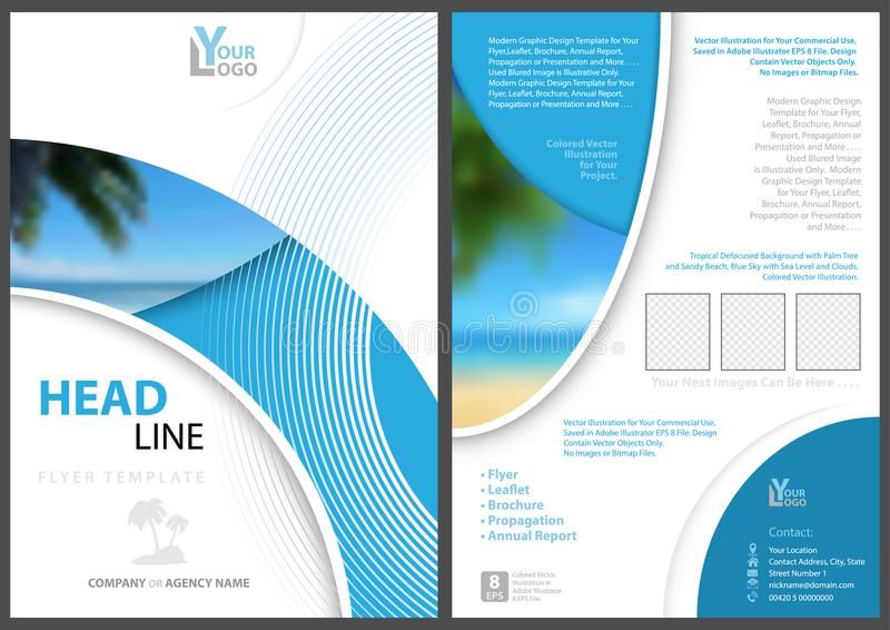 Elegant Flyer Template With Geometric Shapes Stock Illustration