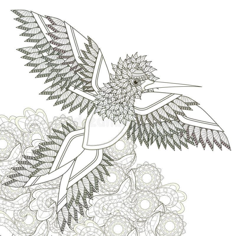 Elegant flying bird stock illustration
