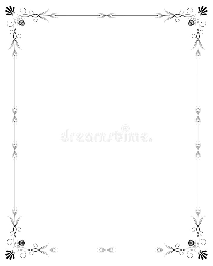 Elegant frame royalty free illustration