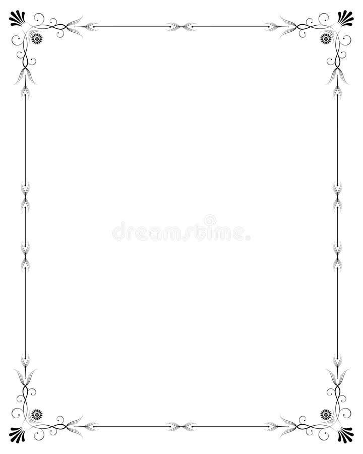 Elegant frame royalty-vrije illustratie
