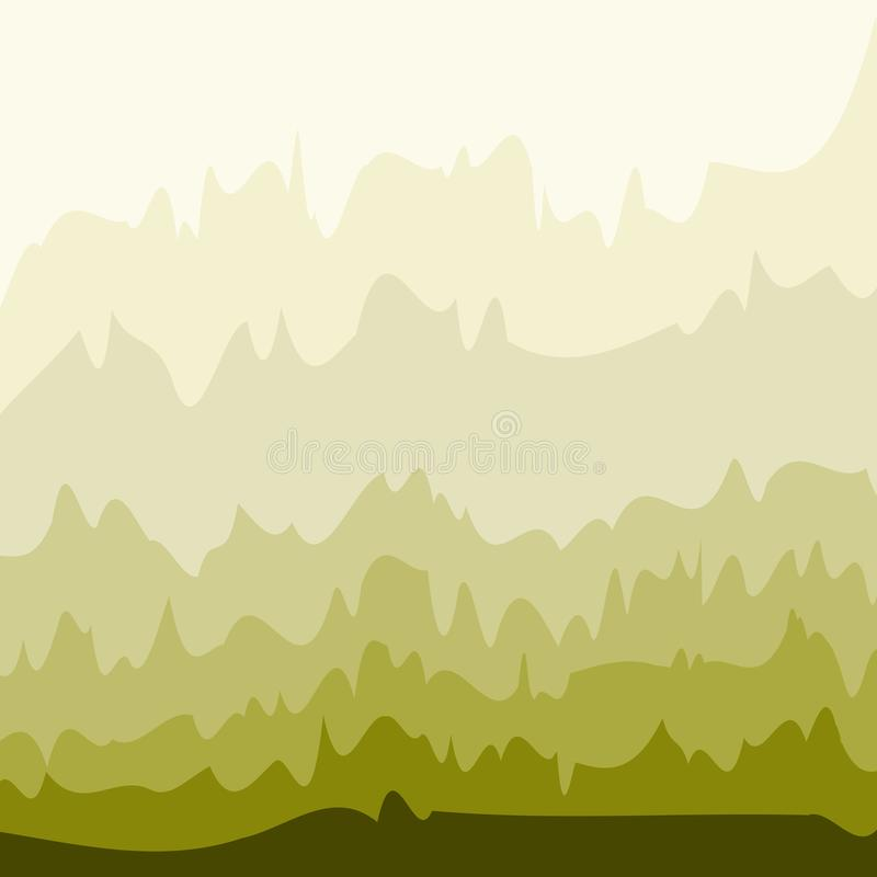 Elegant frame with abstract green waves vector illustration