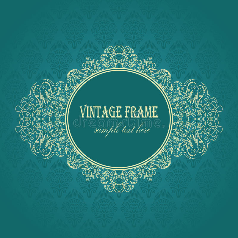 Elegant frame on a blue background