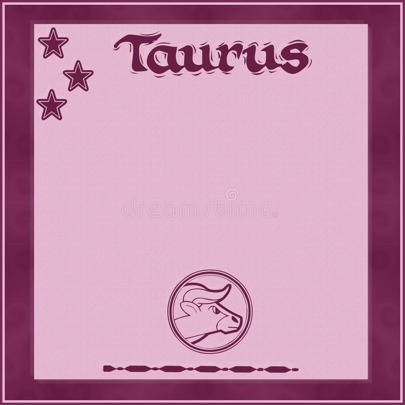 Elegant frame with zodiac sign-Taurus vector illustration