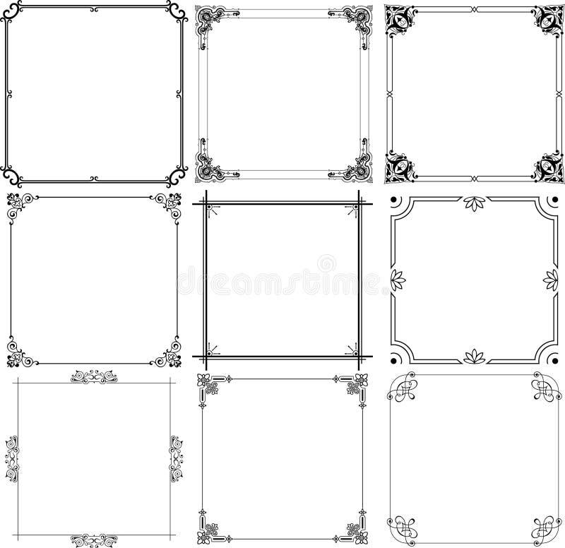 Elegant frames stock illustration