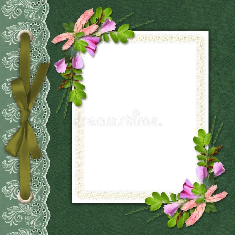 Elegant framework on the textile background stock illustration