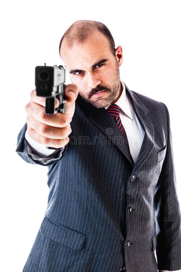 Elegant gangster royalty free stock photography
