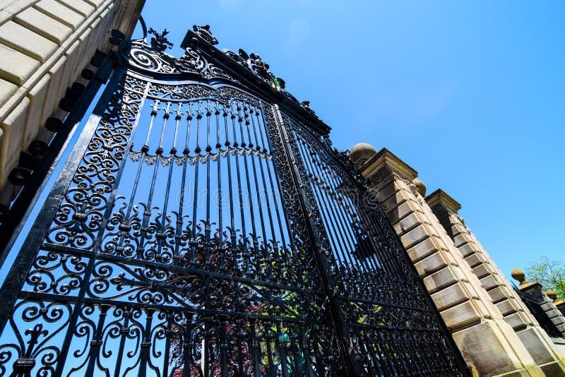 Elegant gateway. Large elegant gateway at the Breakers Mansion in Newport, RI stock photo