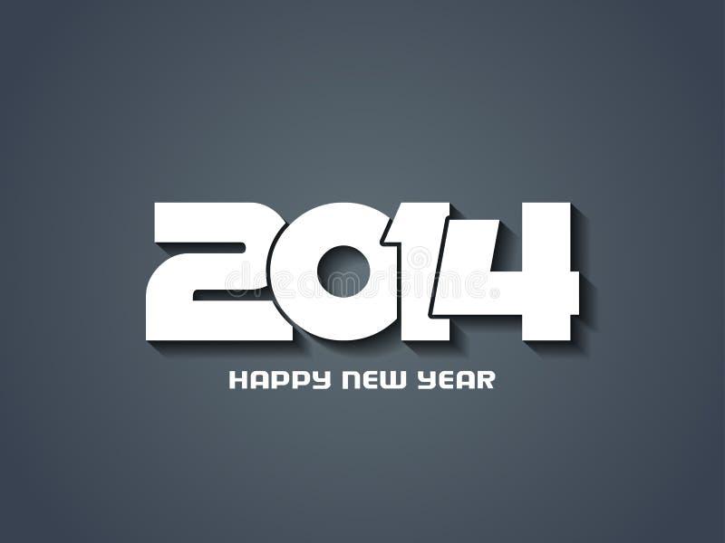 Elegant gelukkig nieuw jaar 2014 ontwerp. royalty-vrije illustratie