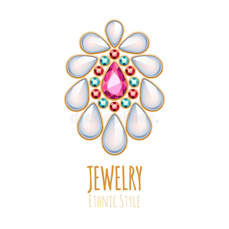 Elegant gemstones vector jewelry decoration stock vector for A good jewelry store