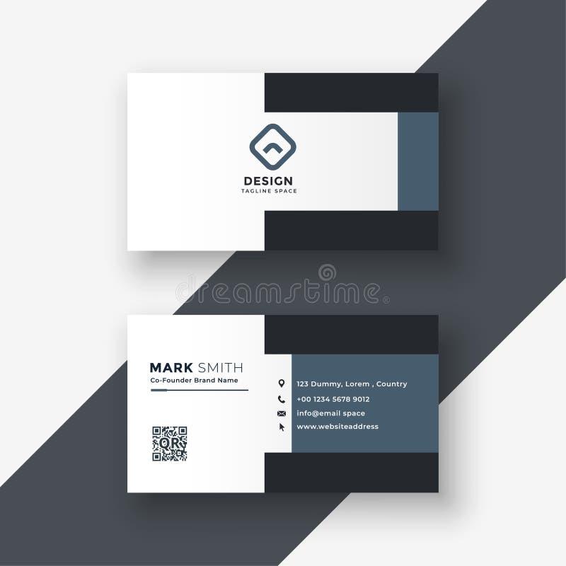Elegant geometric gray business card design vector illustration