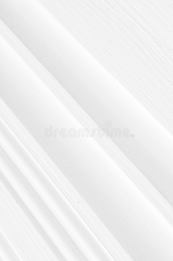 Elegant geometric white background with 3d lines and space for text stock photo