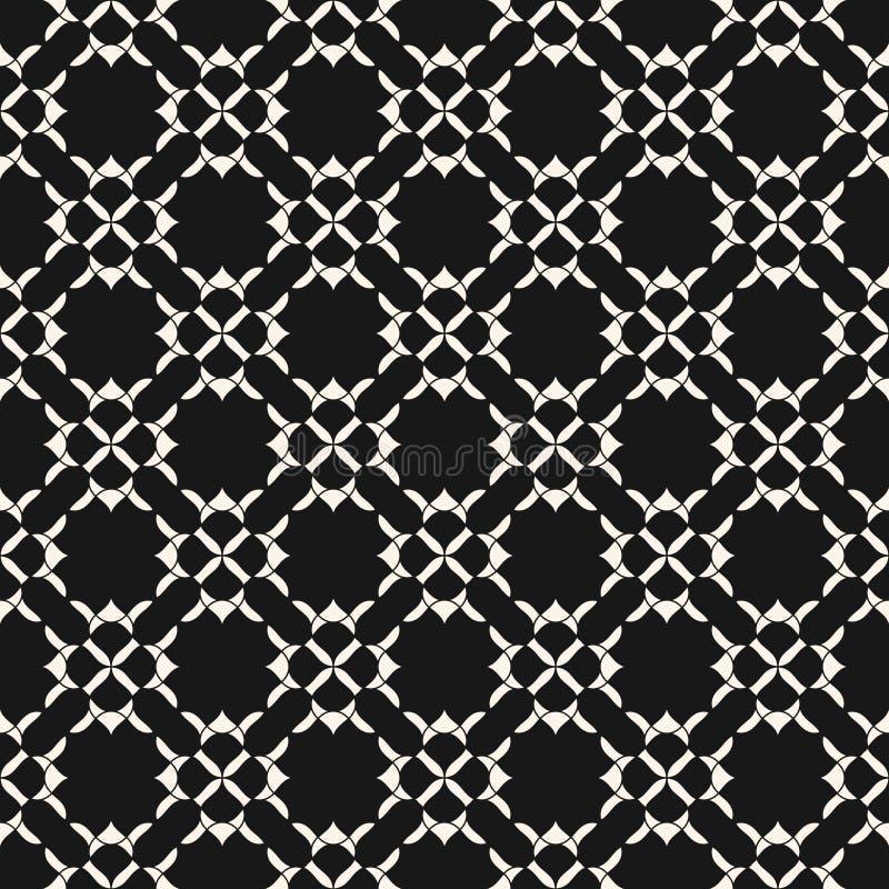 Elegant geometrisk blom- modell Dekorativ bakgrund för svartvit vektor vektor illustrationer