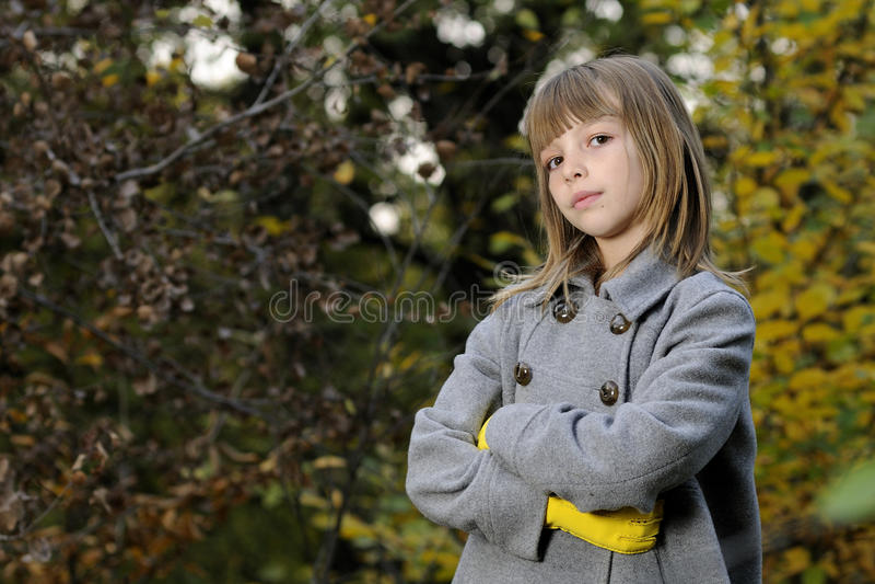 Elegant girl in nature royalty free stock image