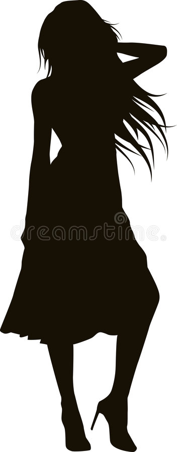 Free Elegant Girl Silhouette Stock Photography - 4493522