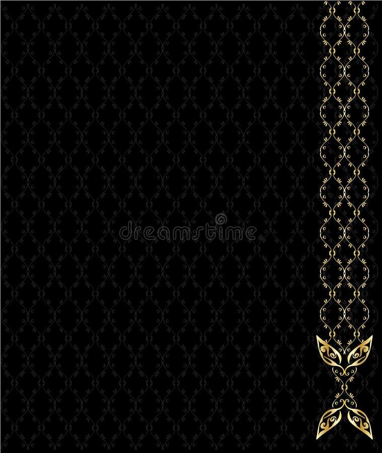 Elegant gold background vector illustration