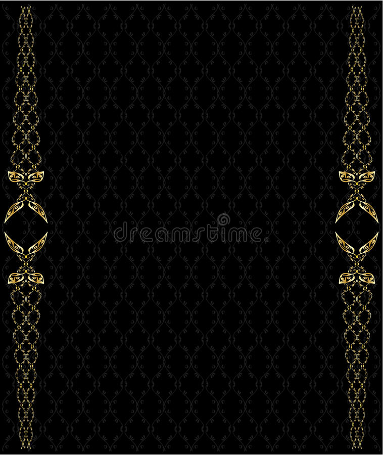Elegant gold background 2 stock illustration