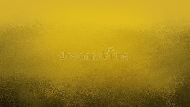 Gold background with black grunge texture on border in old vintage design stock photos