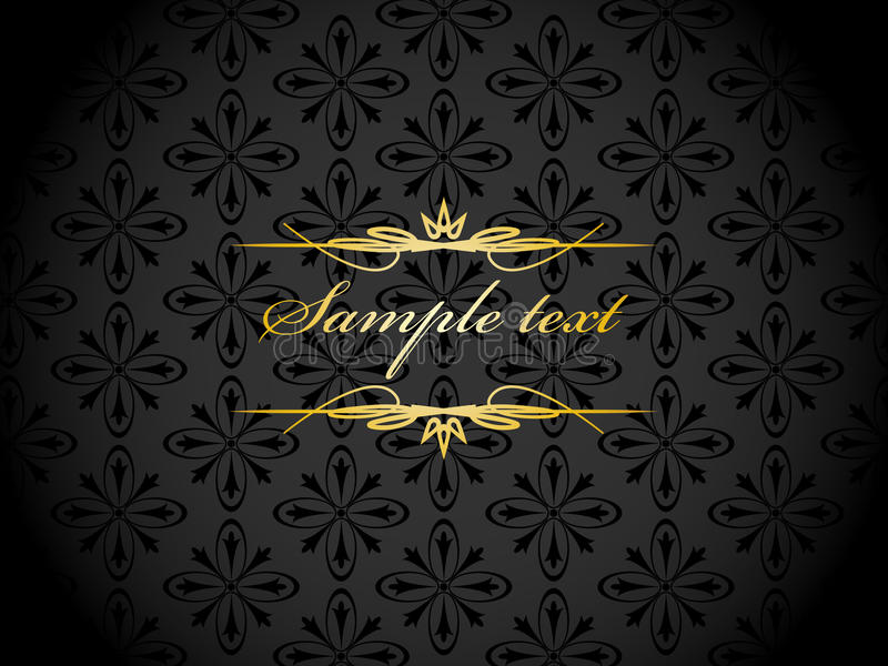 Elegant gold black background vector illustration
