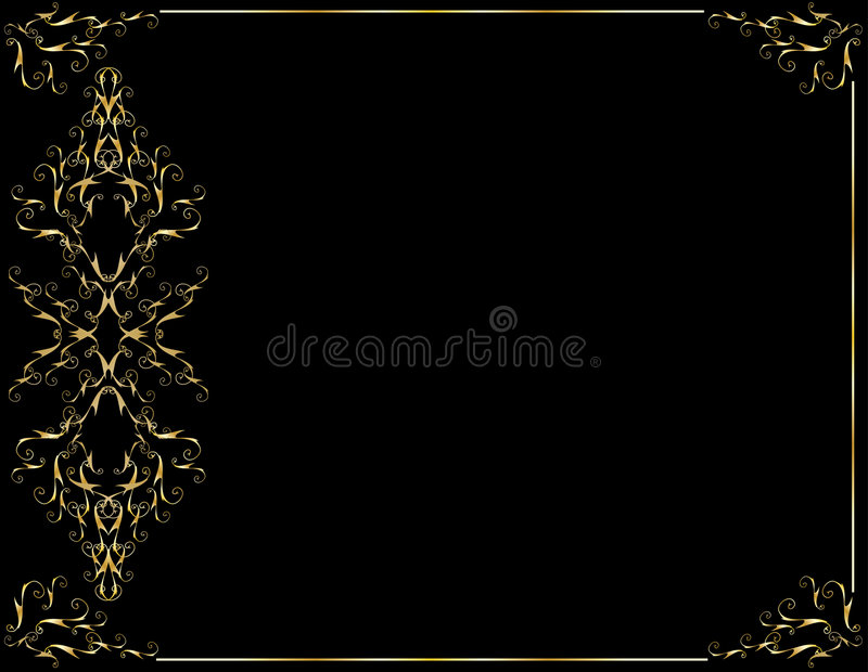 Elegant gold black background stock illustration
