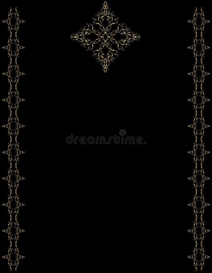 Elegant gold black background vector illustration