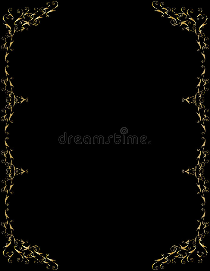 Download Elegant Gold Black Background Stock Vector - Image: 5097698