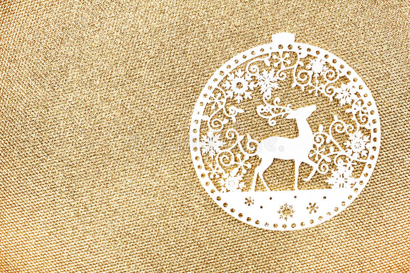 Download Elegant Gold Christmas Background With White Christmas Ornaments Stock Photo - Image: 35721194