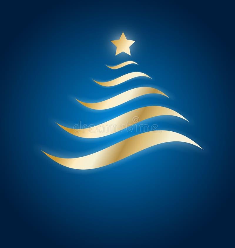Download Elegant Gold Christmas Tree Stock Illustration - Image: 27447698