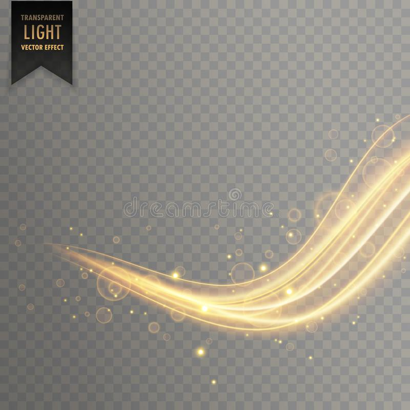Elegant gold color transparent light effect stock illustration