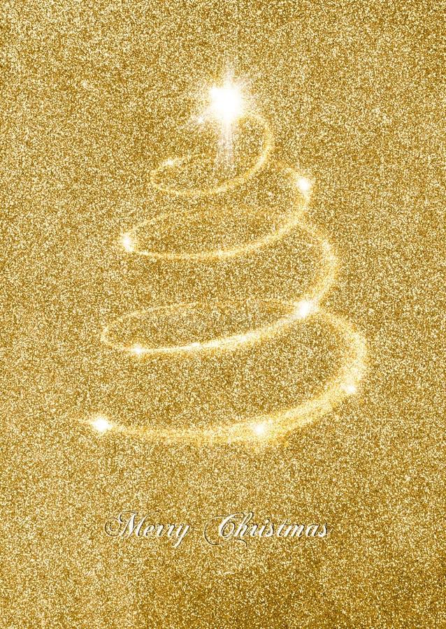 Elegant Gold Glitter Christmas Card stock images