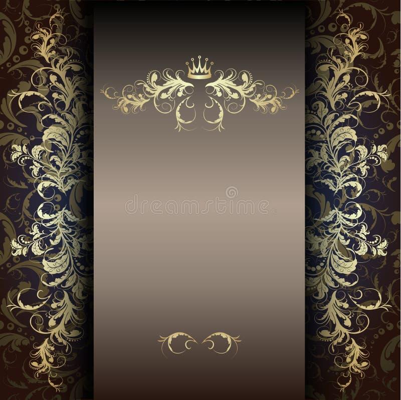 Free Elegant Gold Pattern On A Dark Stock Images - 36173334