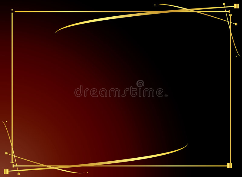 Elegant gold red background 4 stock illustration