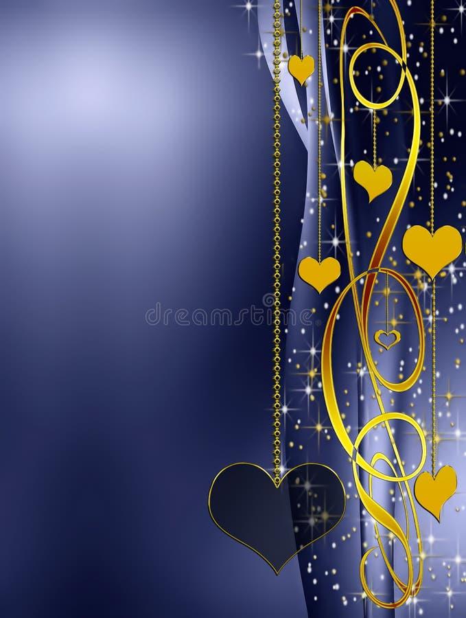 Elegant golden and blue background vector illustration