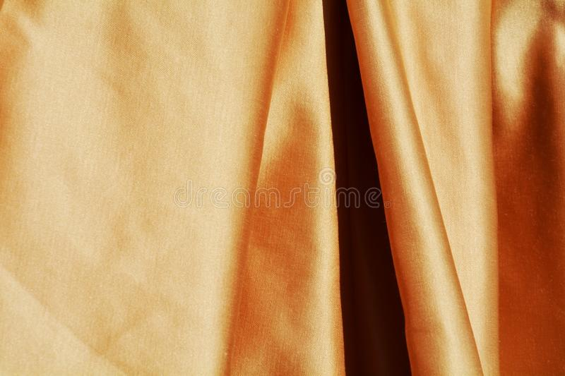 Elegant golden fabric royalty free stock images