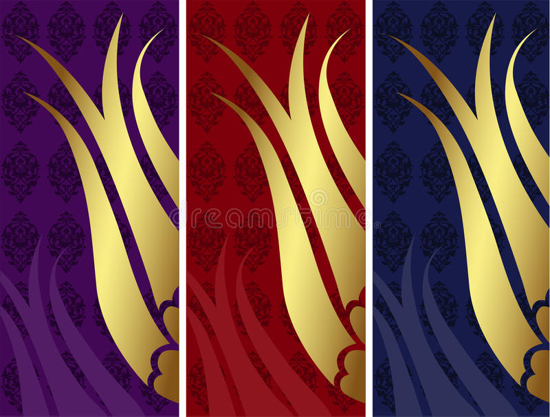 Elegant golden traditional ottoman turkish design vector illustration