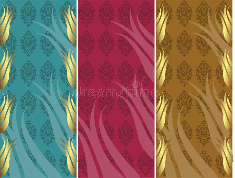 Elegant golden traditional ottoman turkish design stock illustration