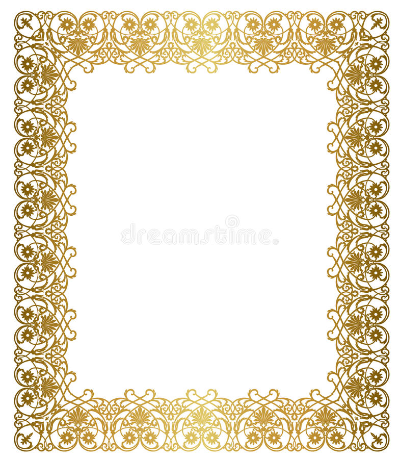 Elegant gouden frame royalty-vrije illustratie