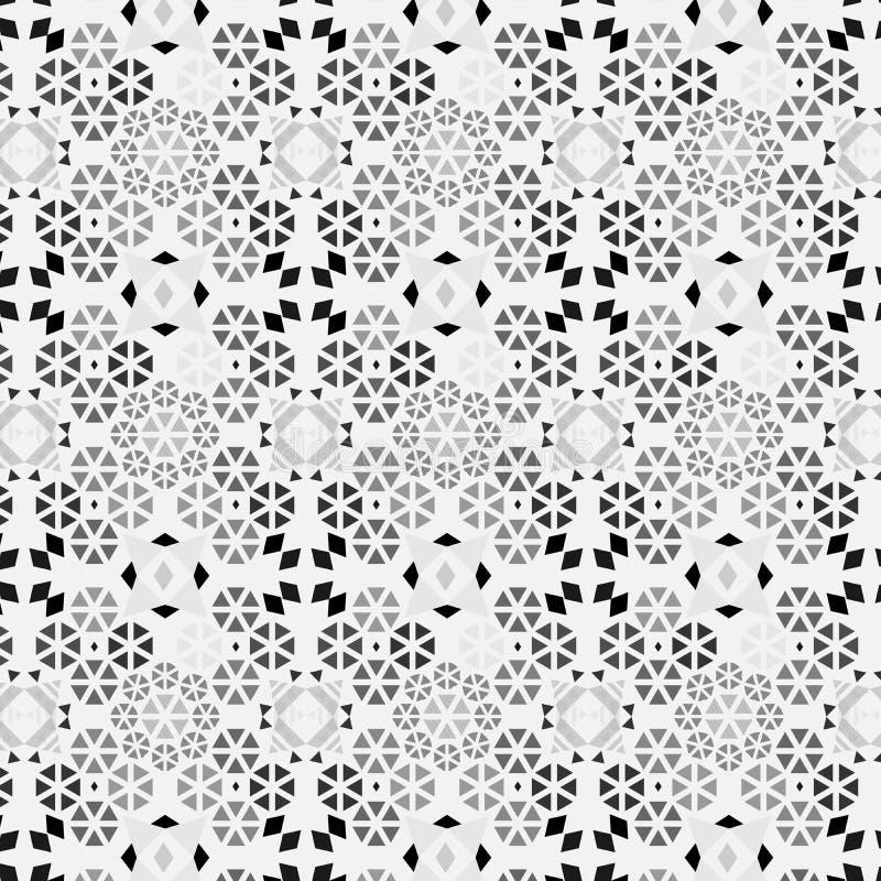 Elegant grå monochromic invecklad modern geometrisk upprepande modell royaltyfri illustrationer