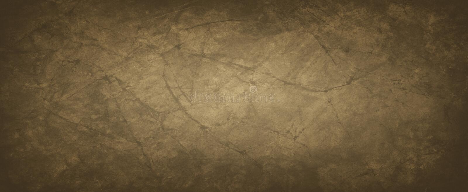 Brown background with crumpled or wrinkled paper texture in an old vintage design, dark coffee earthy and dirty color vector illustration
