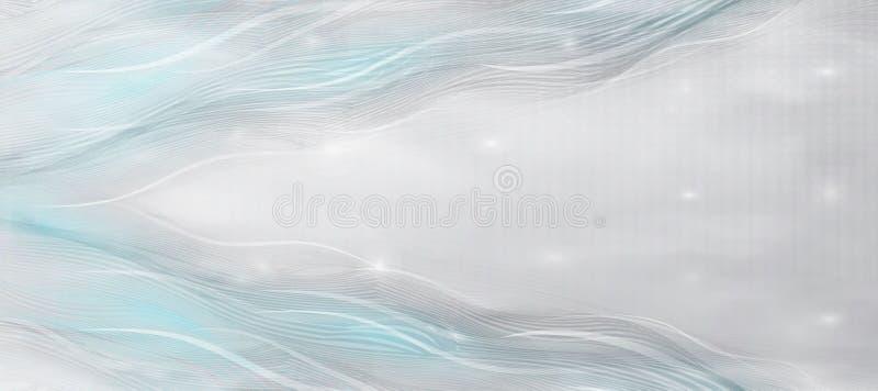 Elegant gray-blue background of wave lines, art background. business Design, Template for cards, invitations, presentations under vector illustration