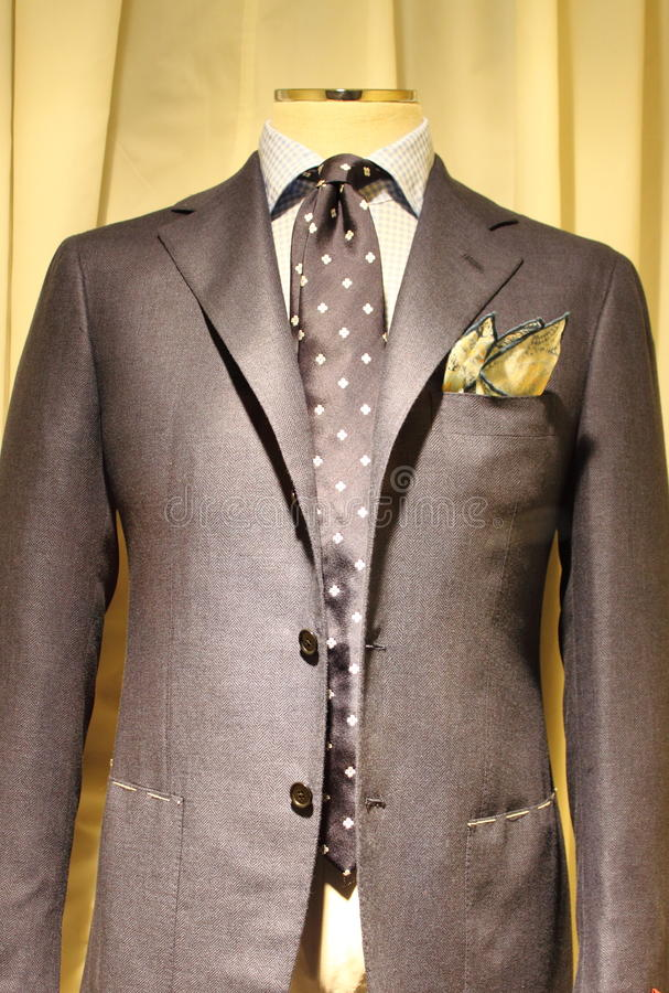 Elegant gray suit stock image