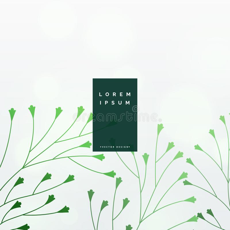 Elegant green leaves vector background stock illustration