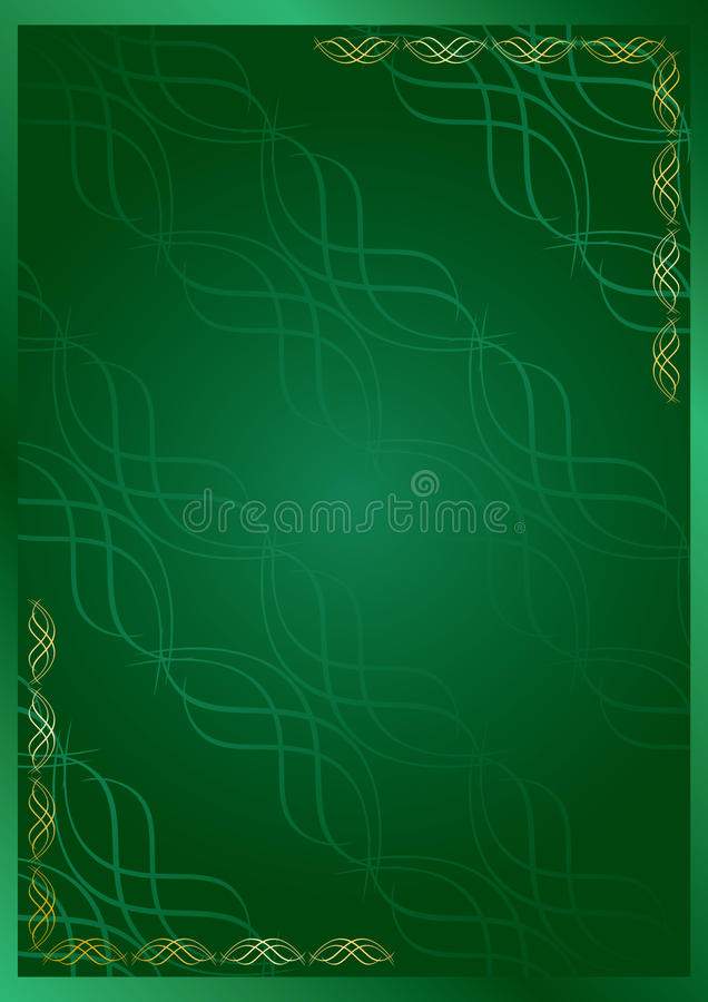 Download Elegant Green Vector Frame With Decor Stock Photos - Image: 15619043