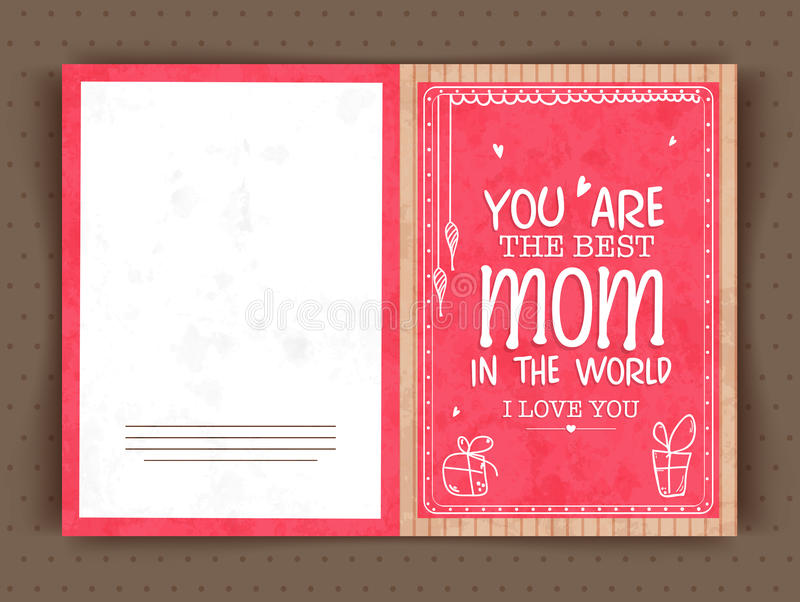 Elegant greeting card design for happy mothers day stock download elegant greeting card design for happy mothers day stock illustration illustration of family m4hsunfo