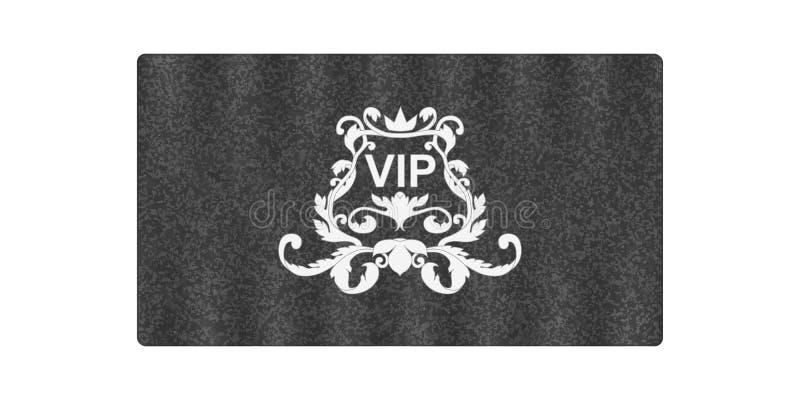 Elegant grijs adreskaartje met Victoriaans ornament en inschrijvingsvip Gemaakt op een zijdetextuur stock foto's