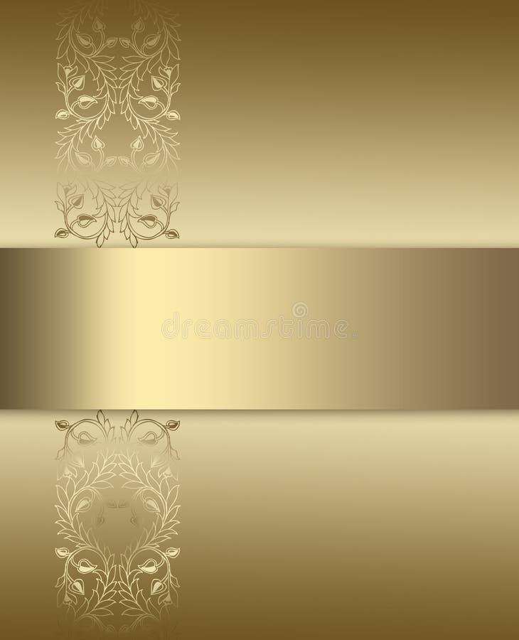Elegant guld- och bruntbakgrund vektor illustrationer