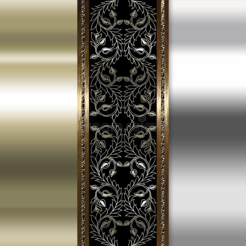 Elegant guld- och bruntbakgrund royaltyfri foto