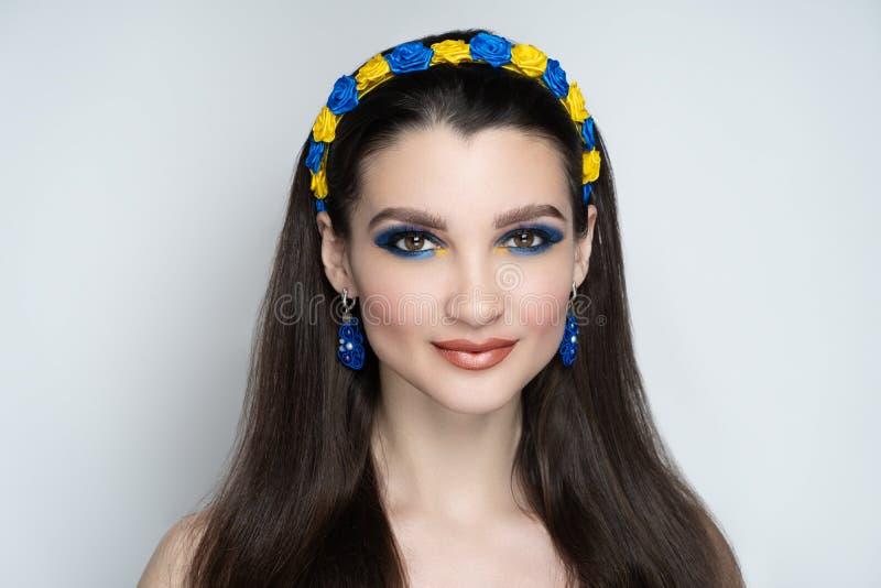 Elegant hårstil för kvinna royaltyfria foton
